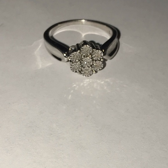 A925 real diamond illusion ring markings inside